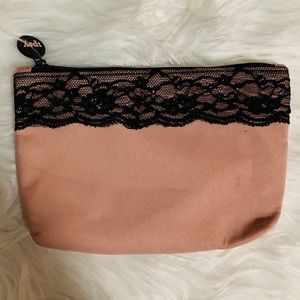 {$6 ADD TO BUNDLE} Blush Lace Cosmetic Bag